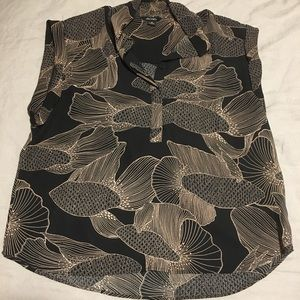 Monki Patterned Button Up Top